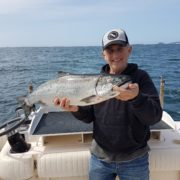hank with 12lb Chinook caught with wild Pacific charters