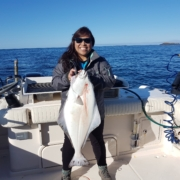 Jessie 's first halibut